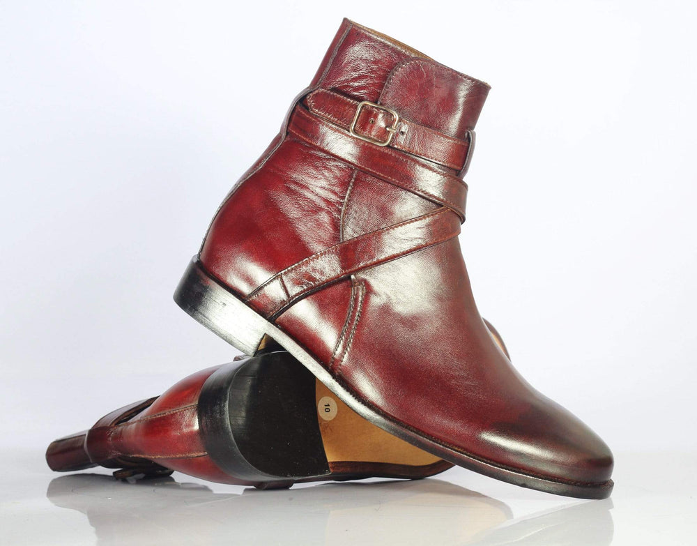 BESPOKESTORES Clothing, Shoes & Accessories:Men's Shoes:Boots Attractive Oxford Burgundy Jodhpurs Ankle high Leather Boot