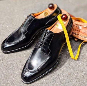 BESPOKESTORES Clothing, Shoes & Accessories:Men's Shoes:Boots Beautiful Lace Up Black Leather Split Toe Men's Foot Wear