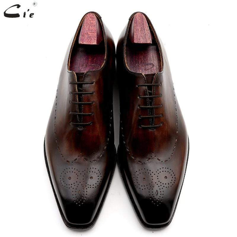 BESPOKESTORES Clothing, Shoes & Accessories:Men's Shoes:Boots Brogue Lace Up Cordovan Wing Tip Hand Painted Leather Shoes