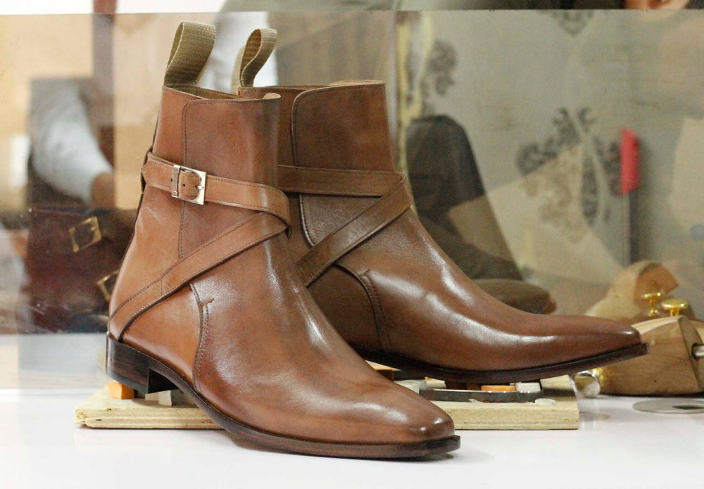 BESPOKESTORES Clothing, Shoes & Accessories:Men's Shoes:Boots Brown Ankle High Jodhpurs Leather Boots For Men's Foot Wear