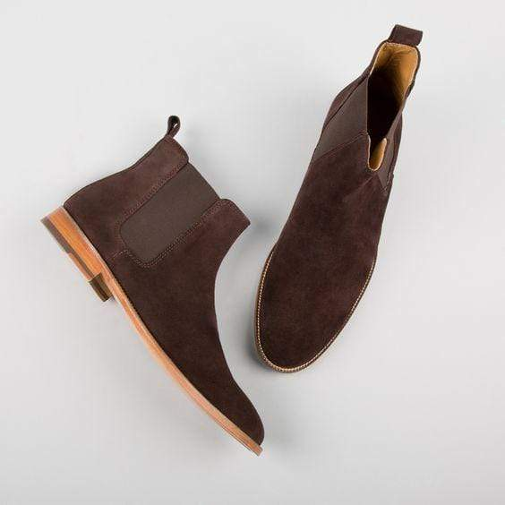 BESPOKESTORES Clothing, Shoes & Accessories:Men's Shoes:Boots Brown Chelsea Ankle High Leather Suede Boot For Men Formal Wear