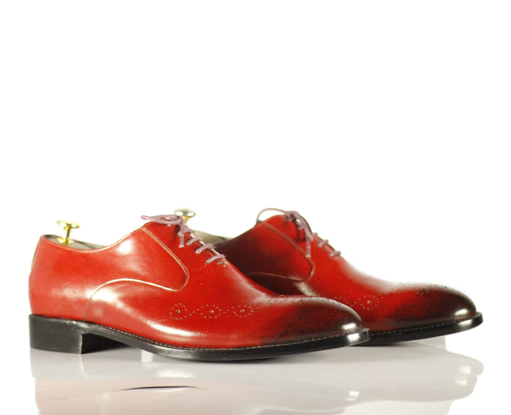 BESPOKESTORES Clothing, Shoes & Accessories:Men's Shoes:Boots Burgundy Brogue Lace Up Leather Formal Dress Shoes for Men