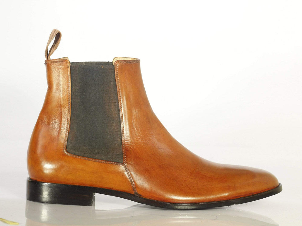 BESPOKESTORES Clothing, Shoes & Accessories:Men's Shoes:Boots Classy Ankle High Tan Chelsea Suede Boots, Formal Dress Boots