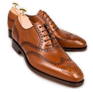 BESPOKESTORES Clothing, Shoes & Accessories:Men's Shoes:Boots Classy Tan  Oxford Brogue Lace Up Wing Tip Leather Shoes For Men