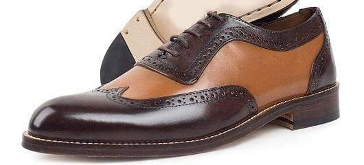 BESPOKESTORES Clothing, Shoes & Accessories:Men's Shoes:Boots Formal Dress Wing Tip Lace Up Leather Brown & Tan Shoes