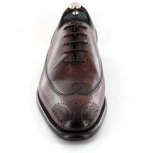 BESPOKESTORES Clothing, Shoes & Accessories:Men's Shoes:Boots Hand Painted Men's Formal Dress Burgundy Lace Up Leather Shoes