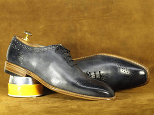 BESPOKESTORES Clothing, Shoes & Accessories:Men's Shoes:Boots Handmade Black Brogue Lace Up Leather Shoes, Men's Formal Dress Shoes