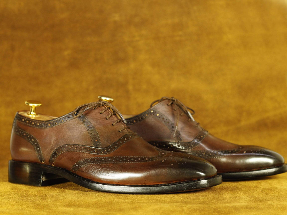 BESPOKESTORES Clothing, Shoes & Accessories:Men's Shoes:Boots Handmade Brown Lace Up Wing Tip Brogue Leather Shoes, Men's Formal Dress Shoes