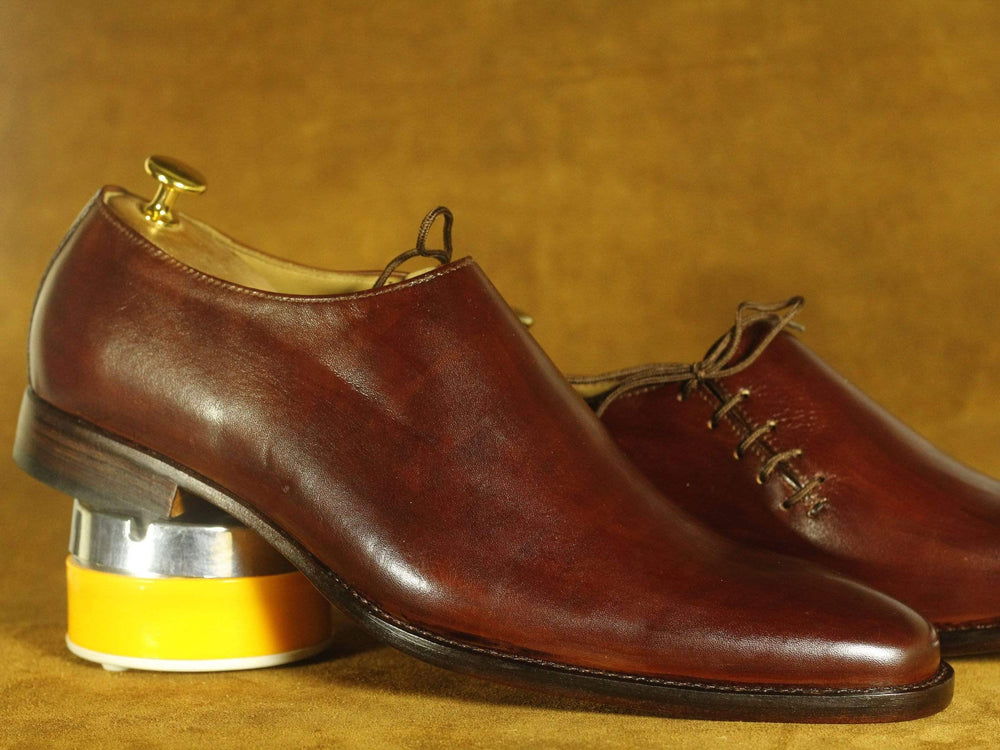 BESPOKESTORES Clothing, Shoes & Accessories:Men's Shoes:Boots Handmade Burgundy Leather Side Lace Up Shoes, Men's Formal Dress Shoes