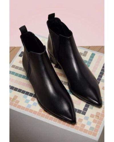 BESPOKESTORES Clothing, Shoes & Accessories:Men's Shoes:Boots Handmade Men Black Pointed Toe Chelsea Leather Ankle Boots