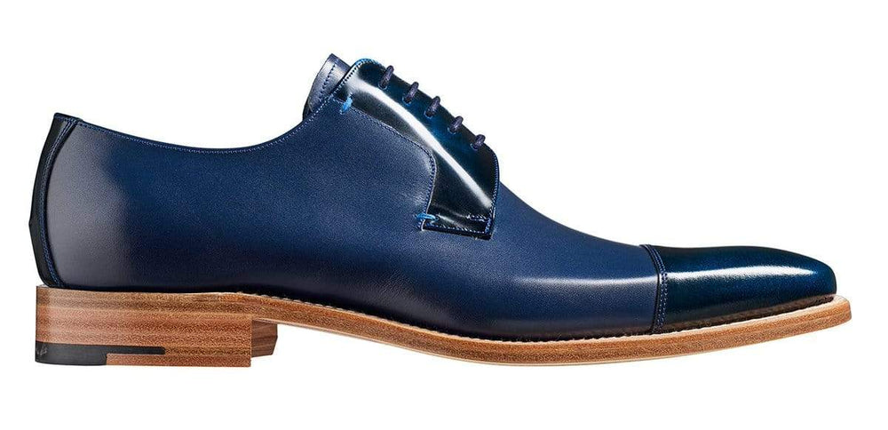 BESPOKESTORES Clothing, Shoes & Accessories:Men's Shoes:Boots Handmade Navy Blue Cap Toe Lace Up Leather Boot For Men