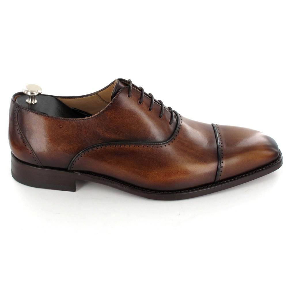 BESPOKESTORES Clothing, Shoes & Accessories:Men's Shoes:Boots Men's Formal Dress Cap Toe Tan Lace Up Leather Shoes