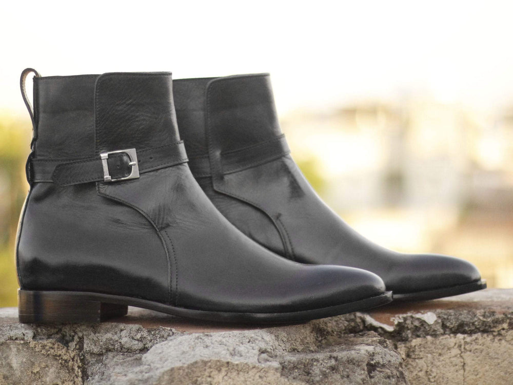 BESPOKESTORES Clothing, Shoes & Accessories:Men's Shoes:Boots Oxford Black Jodhpurs Ankle high Stylish Men's Leather Boot