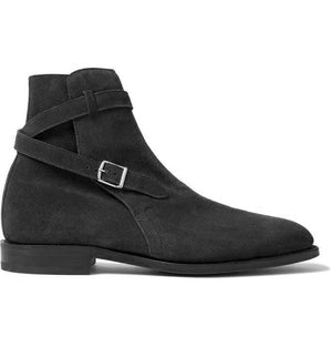 BESPOKESTORES Clothing, Shoes & Accessories:Men's Shoes:Boots Oxford Black Jodhpurs Ankle high Stylish Men's Leather Suede Boot