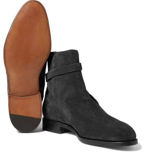 Oxford Black Jodhpurs Ankle high Stylish Men's Leather Suede Boot