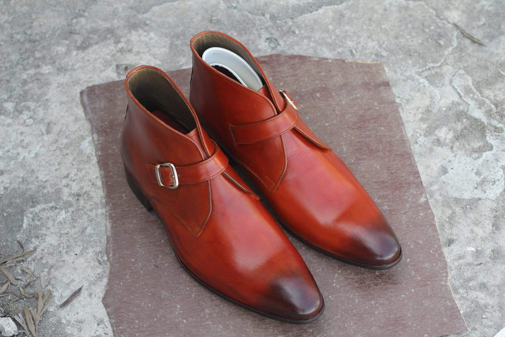 BESPOKESTORES Clothing, Shoes & Accessories:Men's Shoes:Boots Pointed Toe Lace Up Half Ankle Burgundy Handmade Chukka Leather Boot