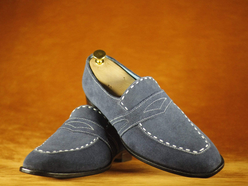 BESPOKESTORES Clothing, Shoes & Accessories:Men's Shoes:Boots Square Toe Decent Gray suede Leather Men's Shoes