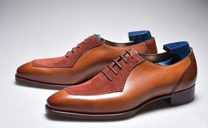 BESPOKESTORES Clothing, Shoes & Accessories:Men's Shoes:Boots Stylish Mustered Lace Up Leather Suede Shoes For Men