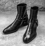 Stylish Patent Black Madrid Zip Long Leather Boot