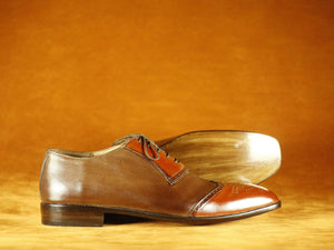 BESPOKESTORES Clothing, Shoes & Accessories:Men's Shoes:Boots Wing Tip Brogue Burgundy & Brown Lace Up Leather Shoes