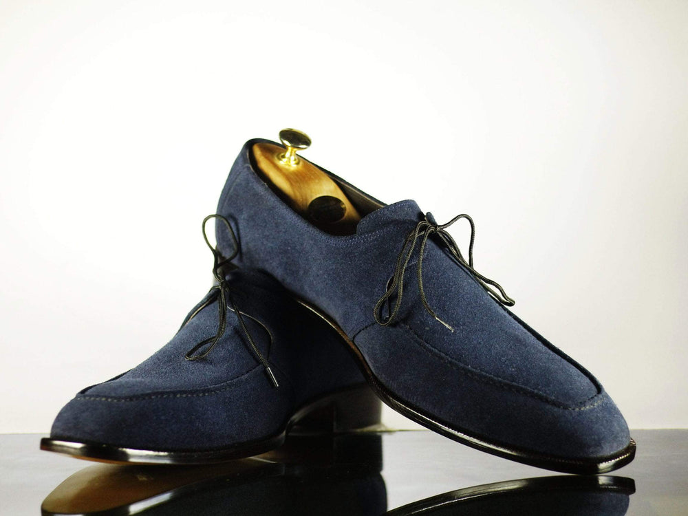 Bespoke Handmade Shoes Beautiful Shoes Navy Blue Shoes Men Boots Stylish Shoes Casual Shoes Dress Shoes Denim Shoes handmade Shoes Hand panted Shoes Shoes out Fit Denim Shoes  Aldo Shoes  Round Toe Shoes Loafers Shoes Dress Shoes