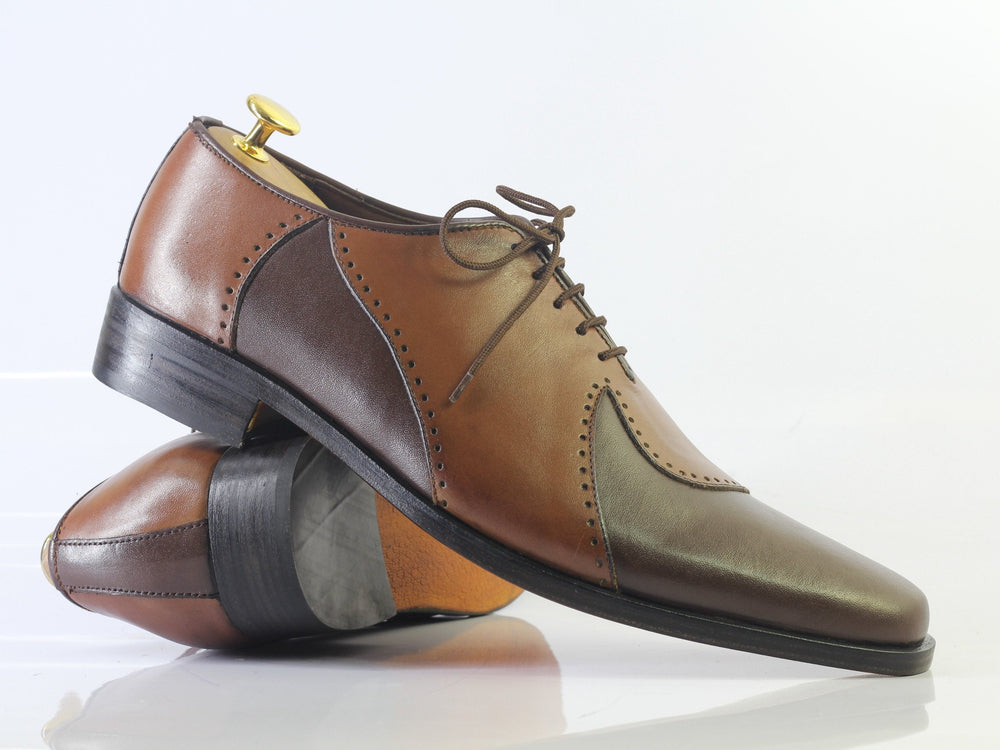 Bespoke Brown Stylish Leather Shoes Men's