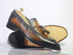 Bespoke Slip On Party Leather Tussle Shoes