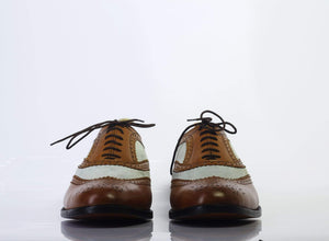 BESPOKESTORES dress shoes Bespoke Wing Tip Oxford Leather Shoes for Men's