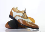 Bespoke Wing Tip Oxford Leather Shoes for Men's
