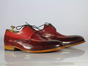 BESPOKESTORES dress shoes Copy of Beautiful Burgundy Leather Whole Cut Bespoke Alligator Shoes for Men's