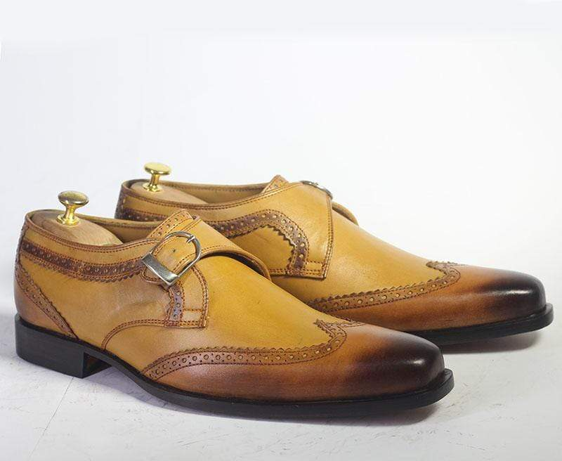 BESPOKESTORES dress shoes Copy of Bespoke Brown & Mustard Leather Loafers for Men's