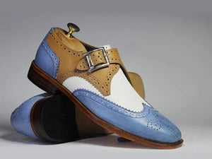 BESPOKESTORES dress shoes Copy of Bespoke Green Leather & Suede Shoes for Men's