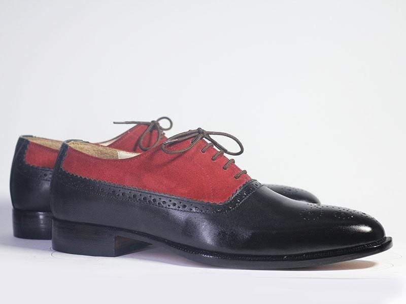 BESPOKESTORES dress shoes Copy of Bespoke Navy Wing Tip Brogue Leather & Denim Shoes for Men's