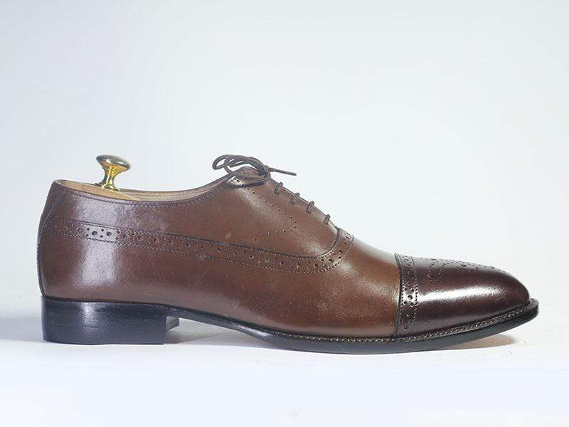 BESPOKESTORES dress shoes Copy of Bespoke Red & Black Brogue Toe Leather & Suede Shoes for Men's