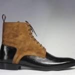 BESPOKESTORES Jodhpurs Boots Copy of Bespoke Black Leather Ankle Jodhpurs Boots For Men's