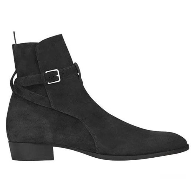 Oxford Jodhpurs Black Ankle High Leather Suede Boot