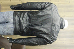 BESPOKESTORES Leather Jacket Biker Leather Jacket Genuine Lambskin Slim Fit Men's Black Jacket