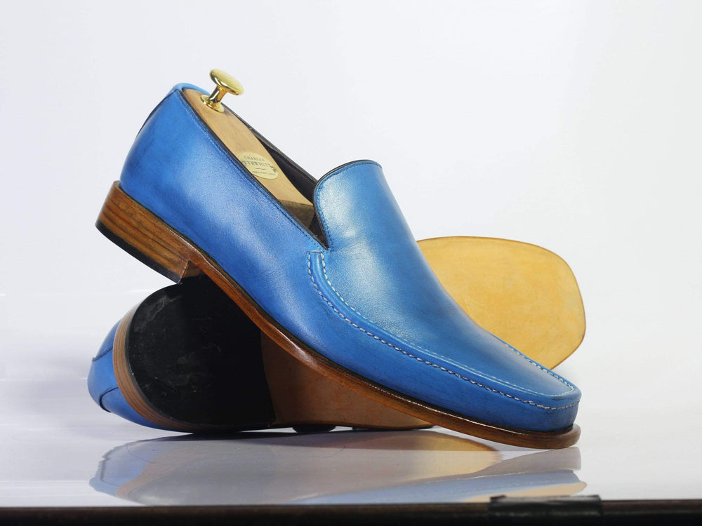 BESPOKESTORES Slipper shoes Bespoke Slip On Party Leather Shoes