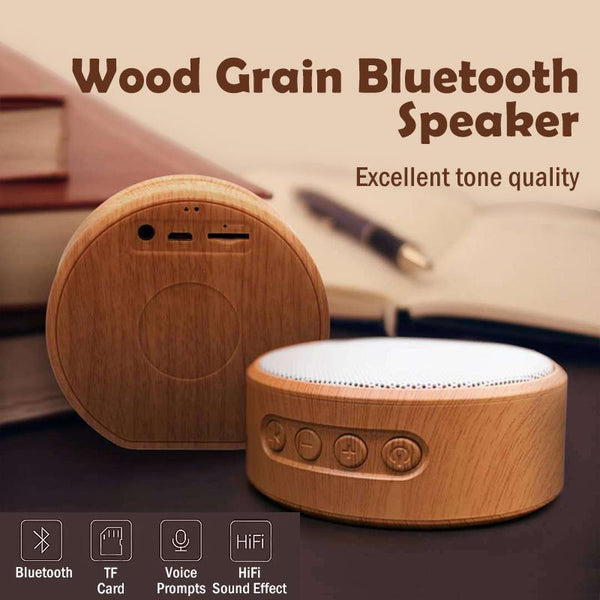 Wood Grain Bluetooth Speaker