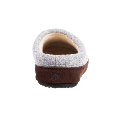 Women's Forest Mule Slippers in Heather Grey Hare back View