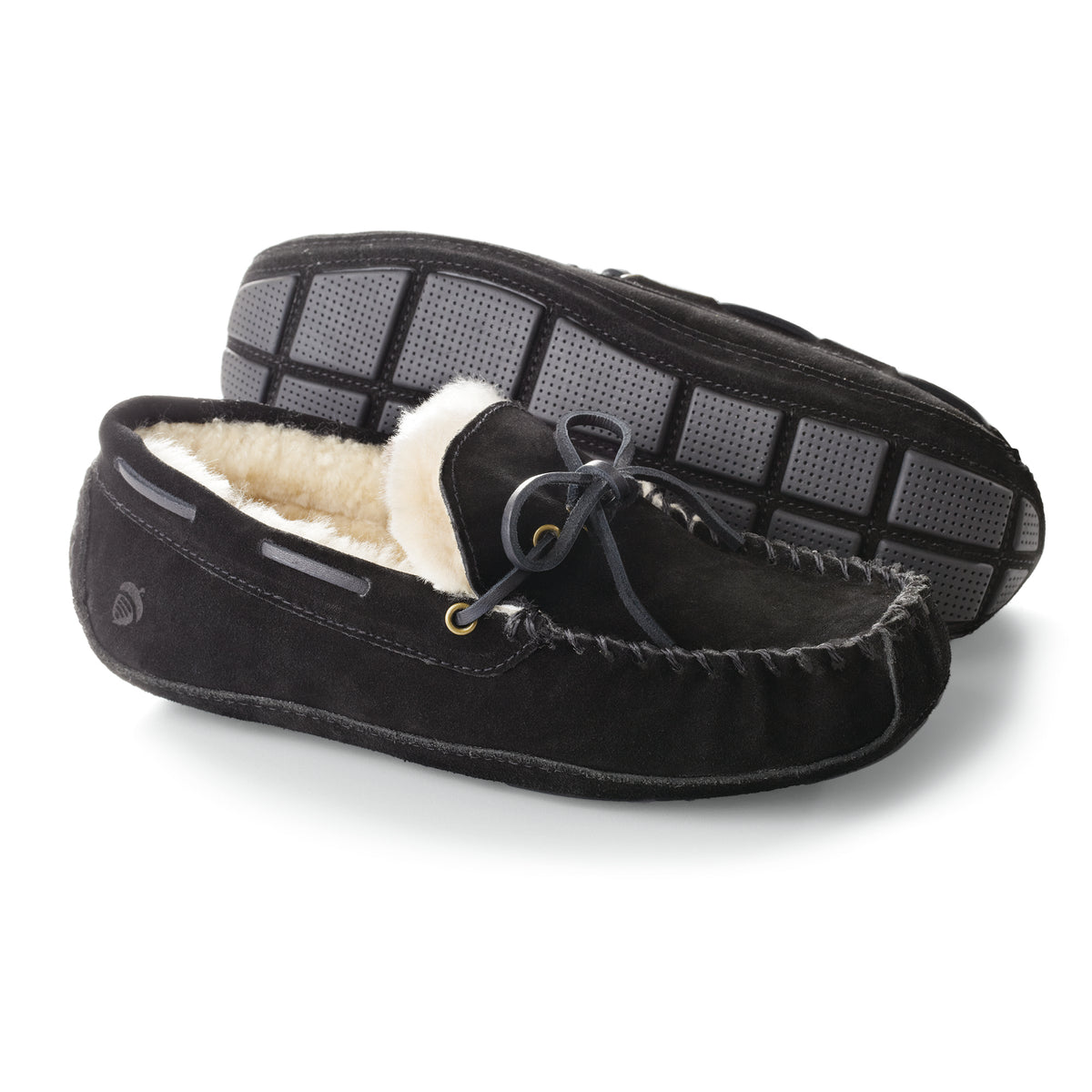 Acorn Men's Sheepskin Moxie Moc Slippers