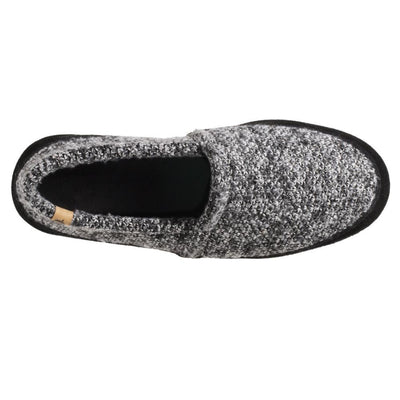 Men's Original Acorn Moccasins in Black Tweed Inside Top View