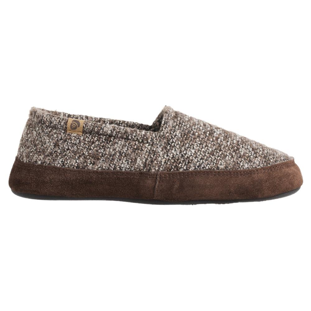 Men's Original Acorn Moccasins in Brown Tweed Profile