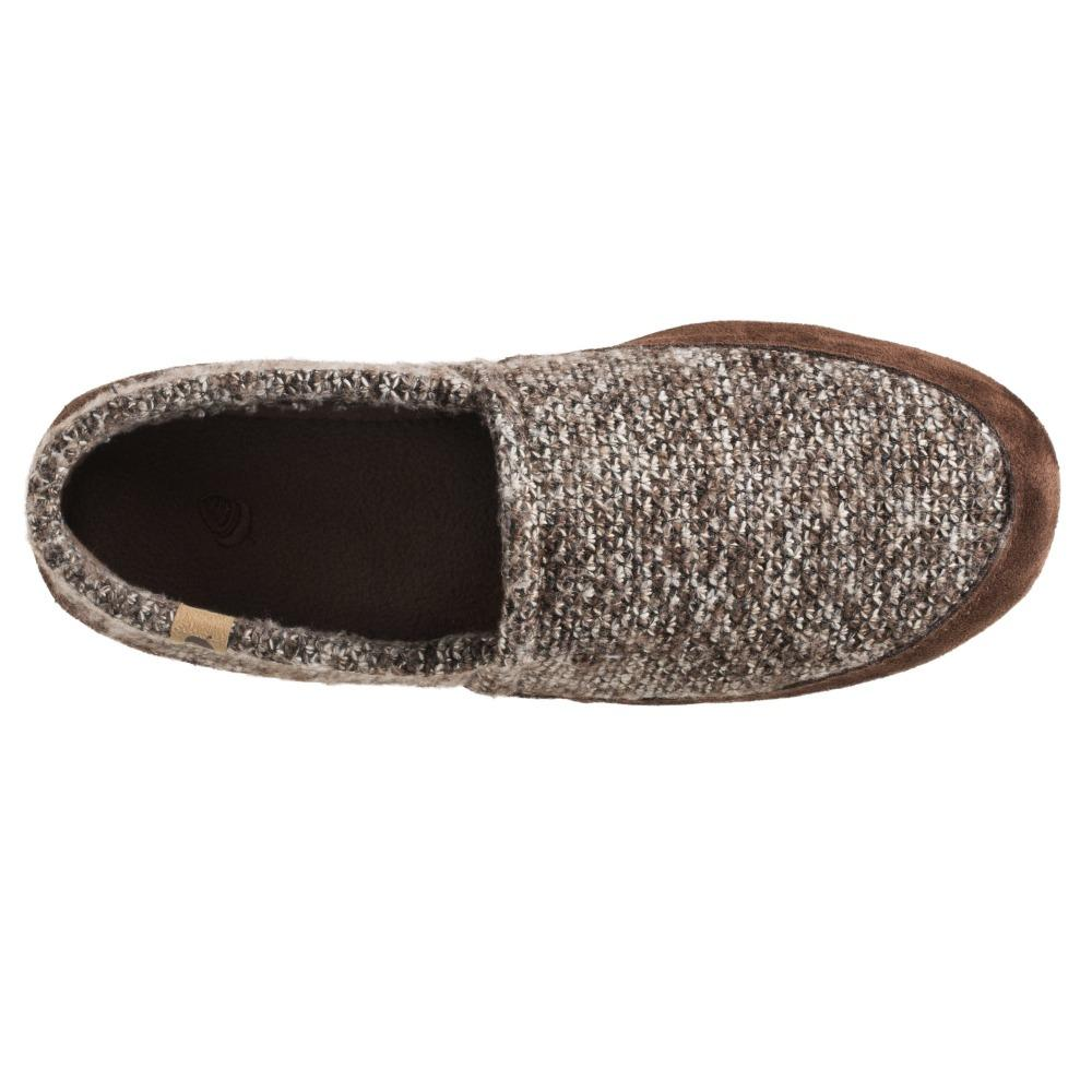 Men's Original Acorn Moccasins in Brown Tweed Inside Top View