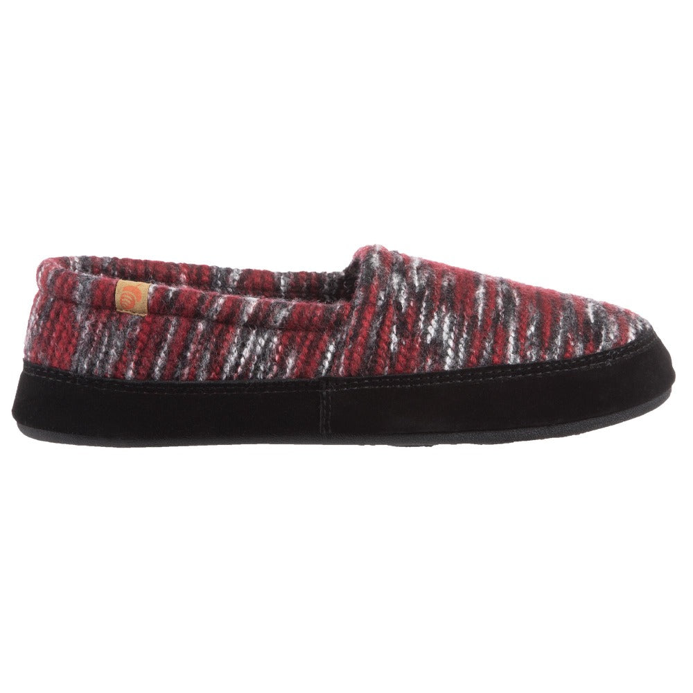 Men's Original Acorn Moccasins in Garnet Profile