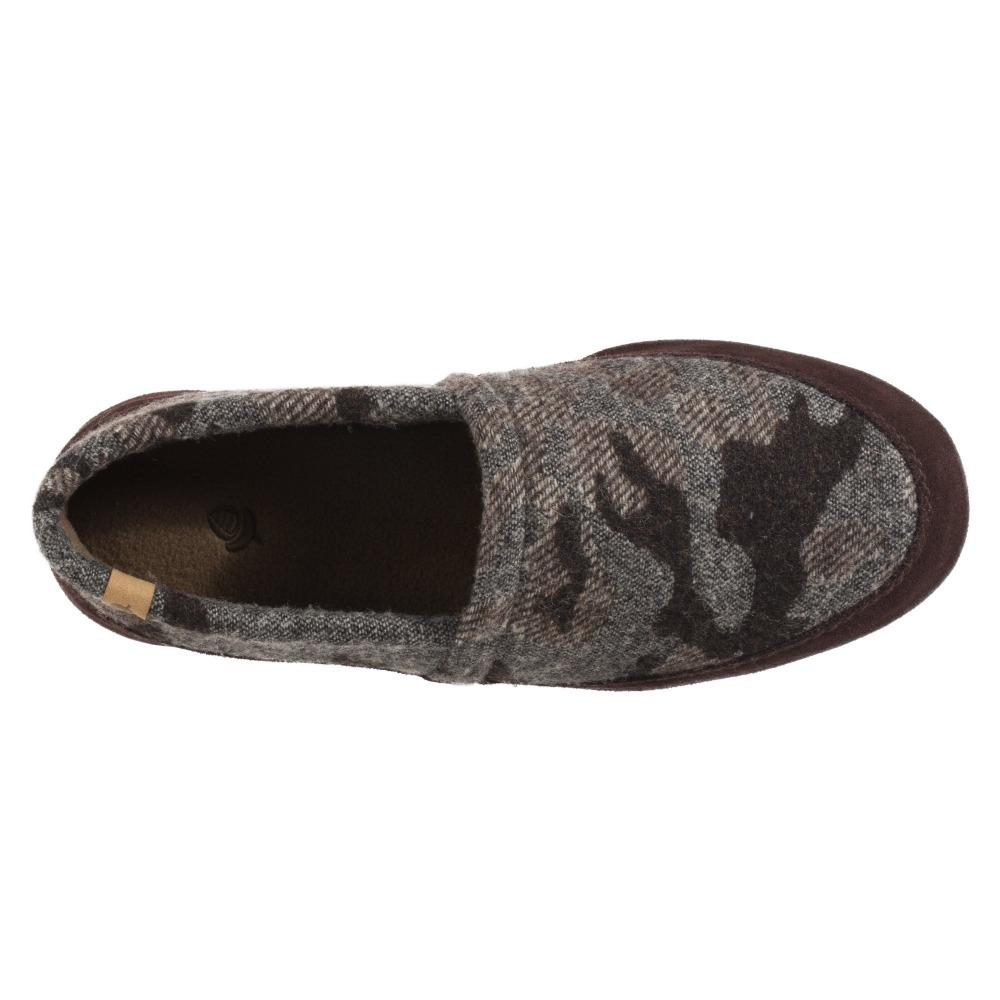 Men's Original Acorn Moccasins in Urban Camo Inside Top View