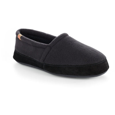 Men's Original Acorn Moccasins in Black Right Angled View