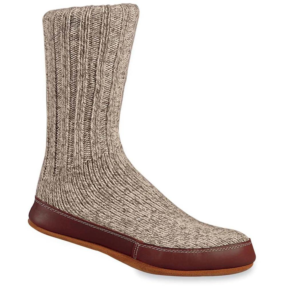 The Original Slipper Sock in Gray Ragg Wool Side View