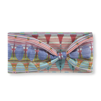 Women's Pistil Edie Multi color jersey material headband in Aqua