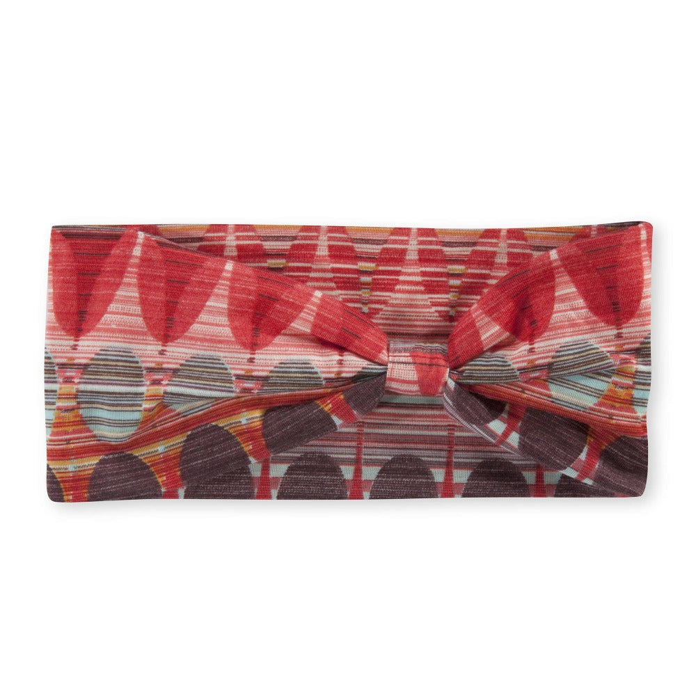 Women's Pistil Edie Multi color jersey material headband in Hibiscus